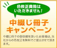 中綴じ冊子 キャンペーン